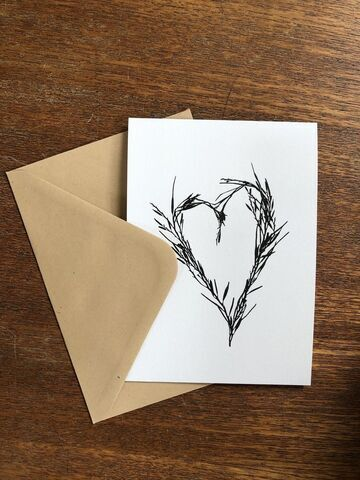 Seaweed Heart Greetings Card