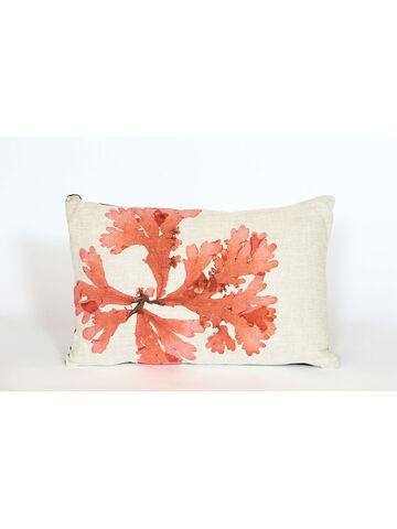 Seaweed Print Linen Oblong Cushion - Flat Tongue Weed