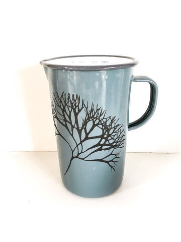 Enamelware Measuring Jug 2 Pints Pigeon Grey - Irish Moss