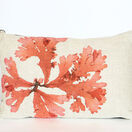 Seaweed Print Linen Oblong Cushion - Flat Tongue Weed additional 1