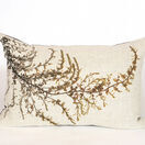 Seaweed Print Linen Oblong Cushion - Wireweed additional 1